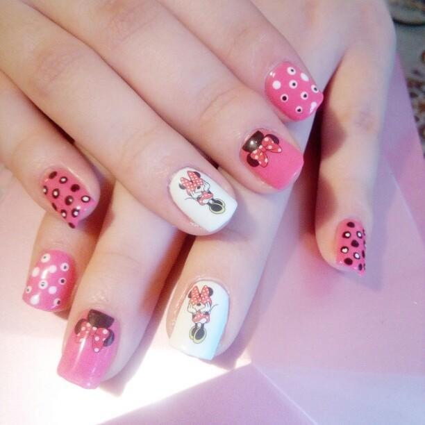Minnie Mouse Water Transfer Nail Art Offer Tribe