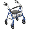 Four Wheel Rollator Walker Fold Up Removable Back Support