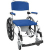 Aluminum Shower Commode Mobile Chair with 24 Rear Wheels