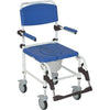 Aluminum Shower Commode Mobile Chair 5 Casters