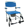Bariatric Aluminum Rehab Shower Commode Chair