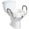 Premium Plastic, Raised, Elongated Toilet Seat with Lock