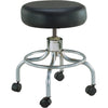 Wheeled Round Stool with Round Footrest