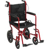 "Lightweight Expedition Transport Wheelchair with Hand Brakes and 12"" Rear ""Flat-Free"" Wheels"