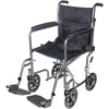 Go Cart Light Weight Steel Transport Wheelchair with Swing Away Footrest for mobility