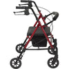 Adjustable Height Rollator with 6 Wheels 4 wheeled