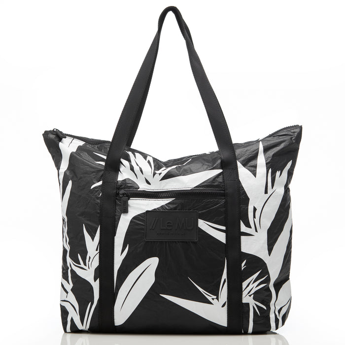 Zipper Tote // White Birds in Paradise