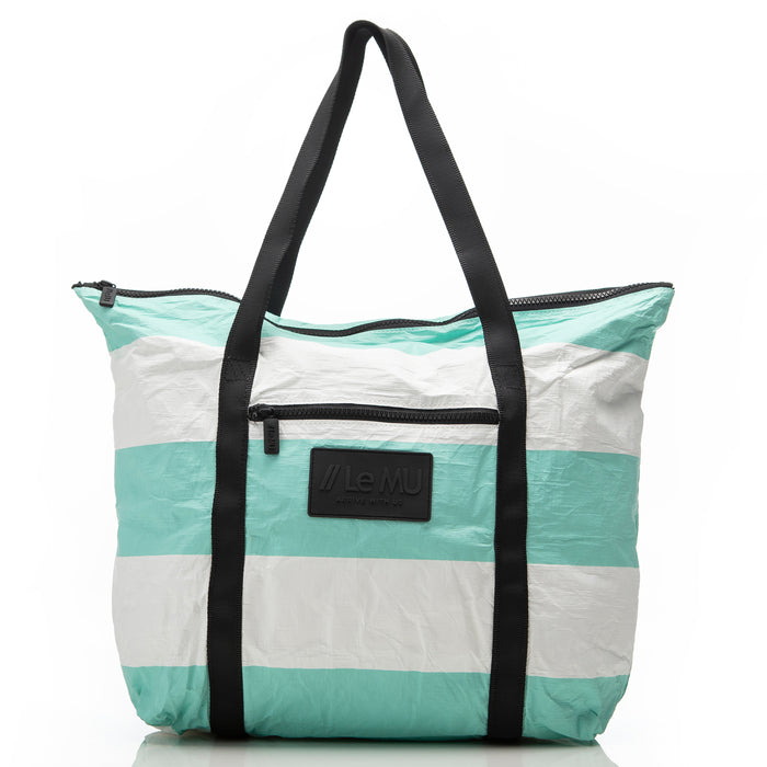 Zipper Tote // Pool 3 Stripe
