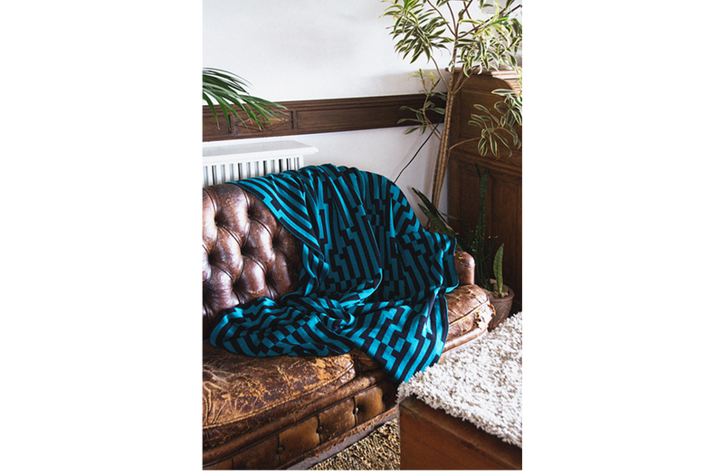 Bitmap Zoom In Blue Throw - New York Look fashion retail style designer brands like Uma