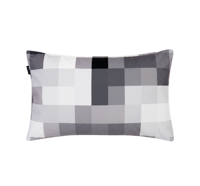 Pixel Luna Grey Rectangular Cushion