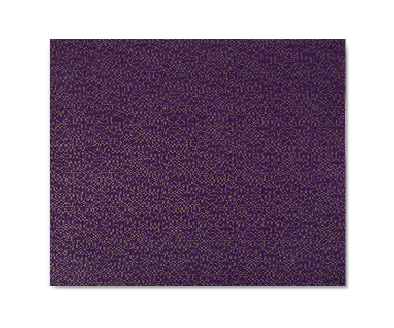Mapping Bedspread Purple