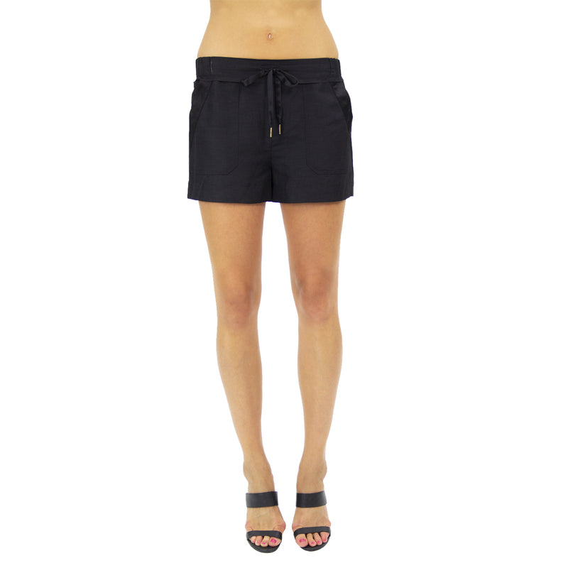 Alyssa Silk Linen Shorts - New York Look fashion retail style designer brands like Uma