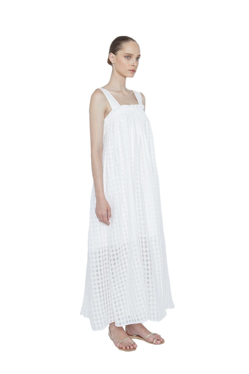 Autumn Linen Dress - New York Look fashion retail style designer brands like Uma