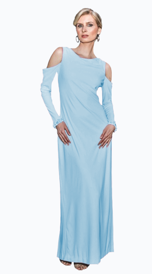 BELLA COLD SHOULDER GOWN - New York Look fashion retail style designer brands like Uma