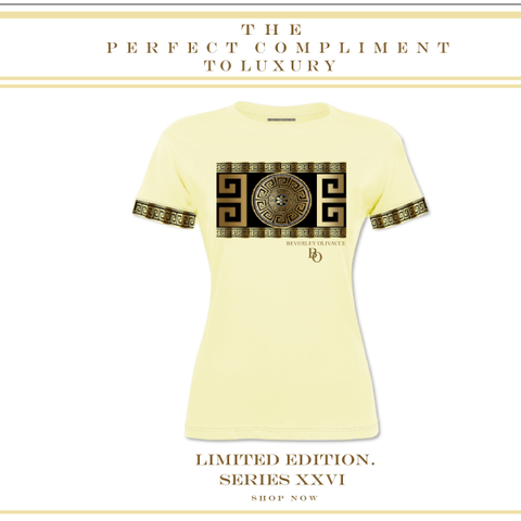 LIMITED EDITION SERIES XXVI LUXURY PARCHMENT YELLOW T SHIRT - New York Look