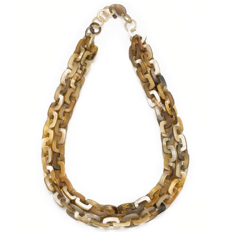Buffalo Horn Double Square Links - New York Look fashion retail style designer brands like Uma