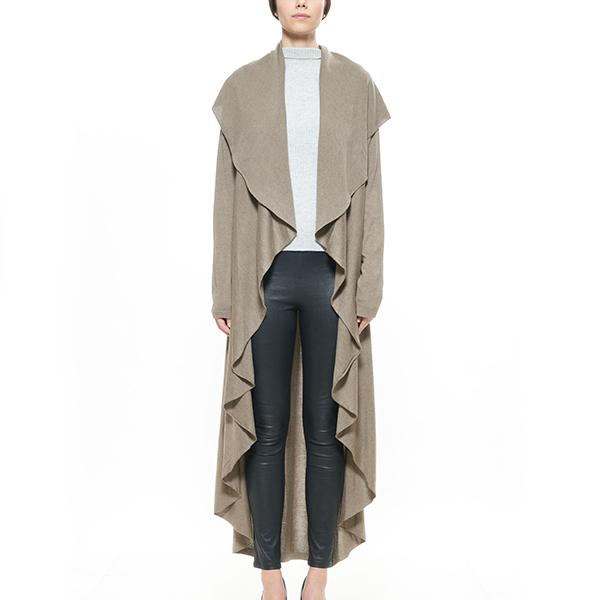 CZAR SILK CASHMERE CASCADING DUSTER - New York Look fashion retail style designer brands like Uma