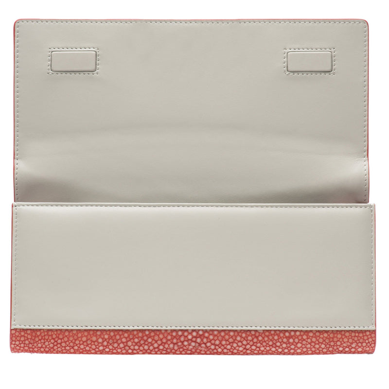 Cleo- Genuine shagreen clutch bag-Hibiscus - New York Look fashion retail style designer brands like Uma