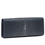 Cleo- Genuine shagreen clutch bag-Navy - New York Look fashion retail style designer brands like Uma
