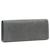 Cleo- Genuine shagreen clutch bag-Gray - New York Look
