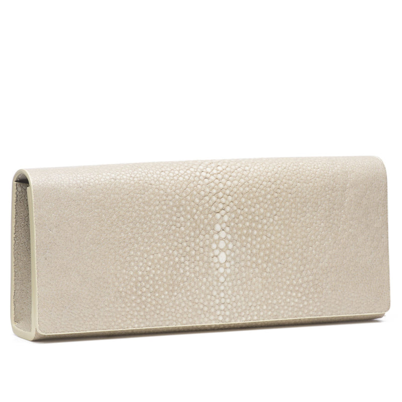 Cleo- Genuine shagreen clutch bag-Wheat - New York Look fashion retail style designer brands like Uma
