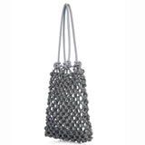 ISA knotted tote bag leather handles - New York Look fashion retail style designer brands like Uma