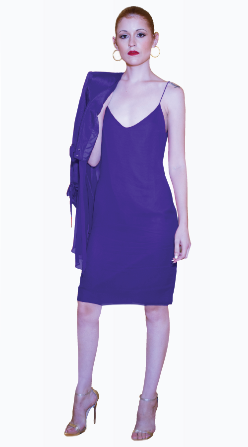 GEORGINA SLIP DRESS AND JACKET - New York Look fashion retail style designer brands like Uma