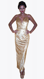 GOLDEN GODDESS MAXI GOWN - New York Look fashion retail style designer brands like Uma