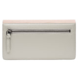 Maya- Shagreen and Napa leather zip back wallet or clutch-Blush - New York Look fashion retail style designer brands like Uma
