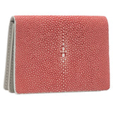 Taylor-Shagreen and Napa leather card case-Hibiscus - New York Look fashion retail style designer brands like Uma