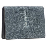 Taylor-Shagreen and Napa leather card case-Niagara - New York Look fashion retail style designer brands like Uma