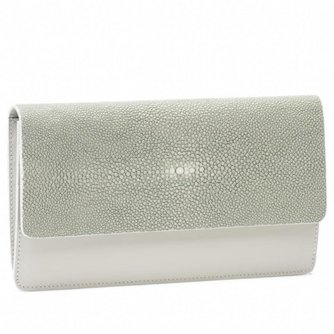 BEA II, shagreen fold front wallet or clutch - New York Look