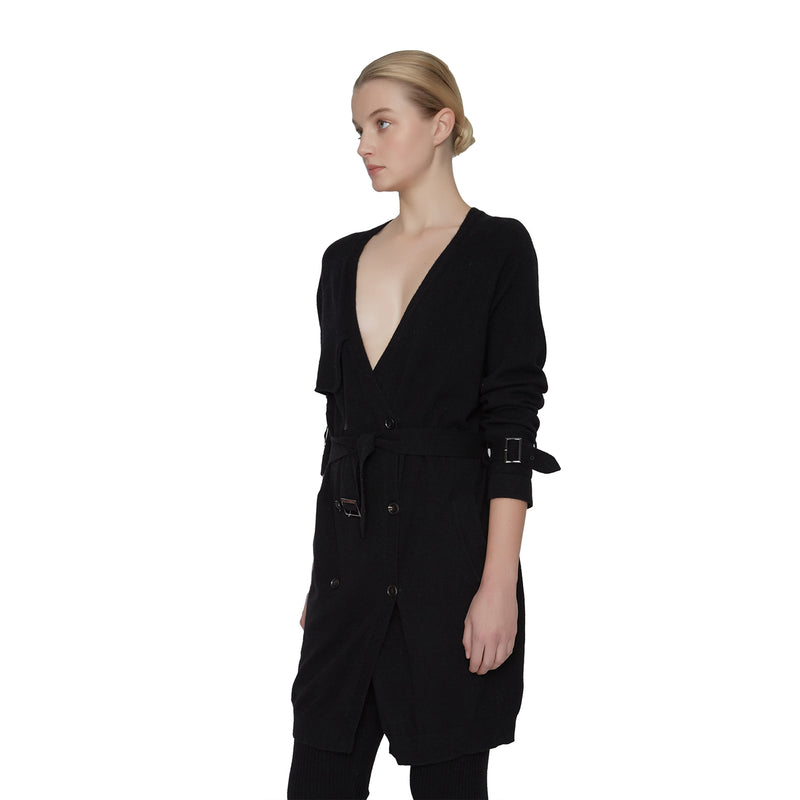 Giselle Cashmere Trench Coat - New York Look fashion retail style designer brands like Uma