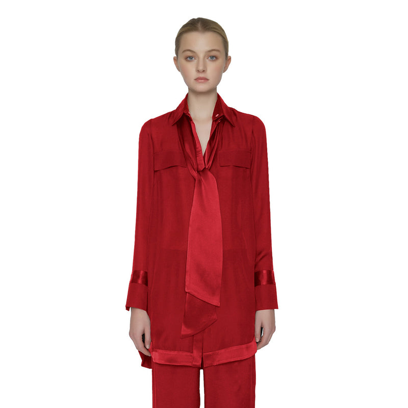 Henri Georgette Top - New York Look fashion retail style designer brands like Uma