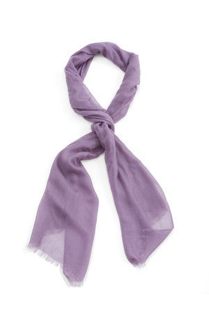 VIOLET CASHMERE SCARF - New York Look