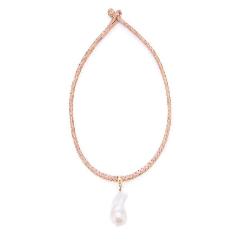Leather Cord 18, Lg Baroque Pearl - New York Look fashion retail style designer brands like Uma