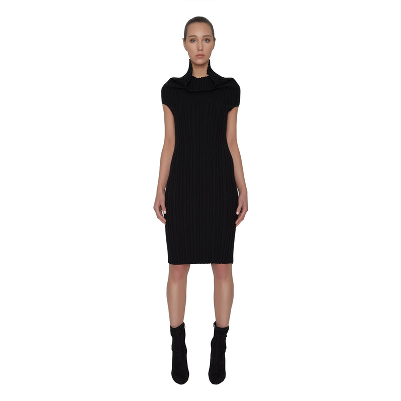 Kris Ribbed Cashmere Dress - New York Look fashion retail style designer brands like Uma