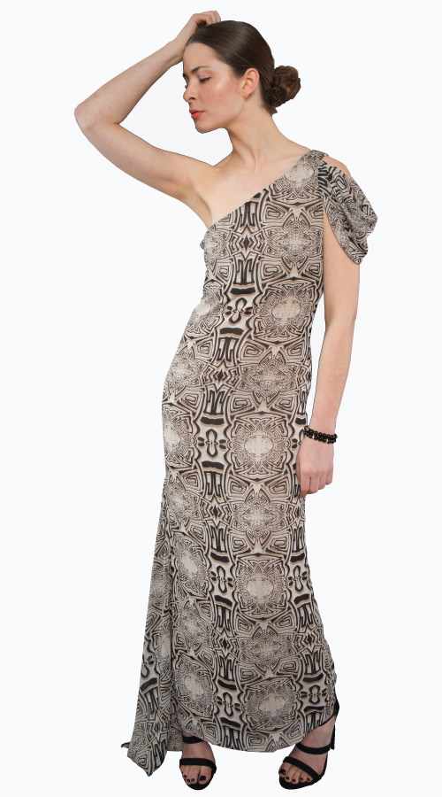 LAURENT MAXI PRINT - New York Look fashion retail style designer brands like Uma