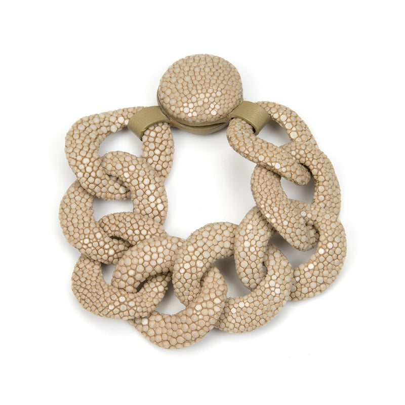 Shagreen Link Bracelet - Latte - New York Look