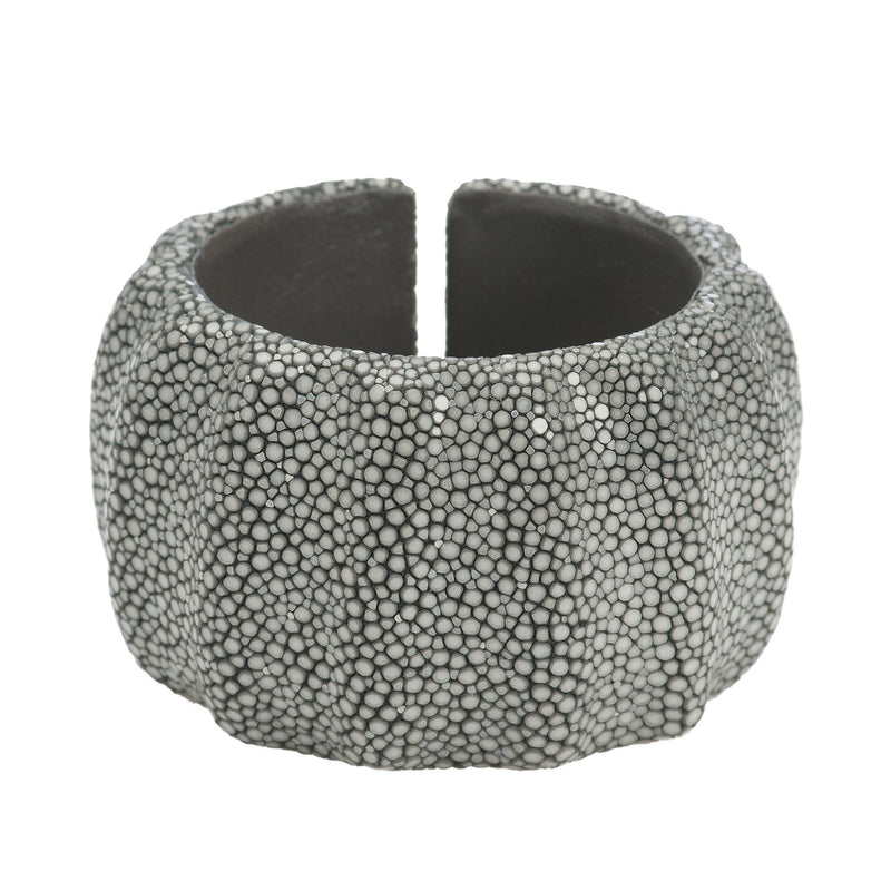 3 Dimensional Shagreen Cuff - Gray - New York Look fashion retail style designer brands like Uma