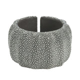 3 Dimensional Shagreen Cuff - Gray - New York Look