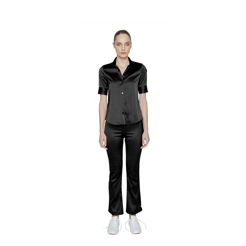 Riley Sateen Button-Down - New York Look fashion retail style designer brands like Uma