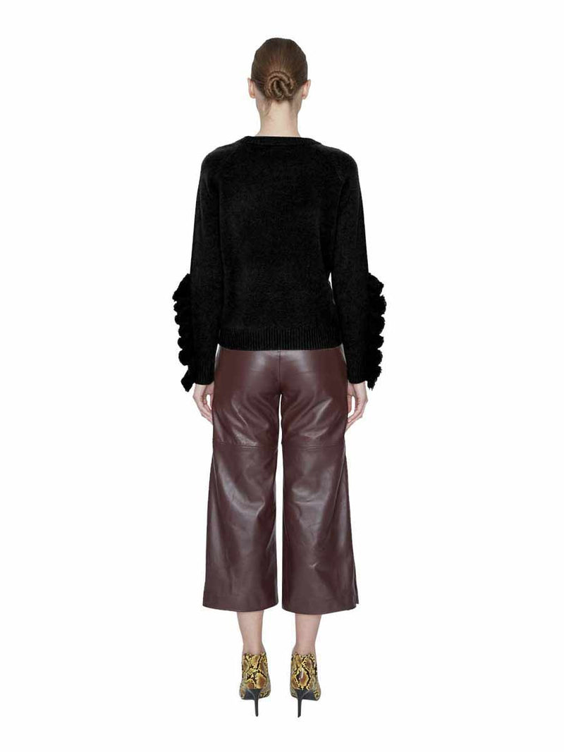 Nadia Ruffled Long-Sleeve Cashmere Sweater - New York Look fashion retail style designer brands like Uma