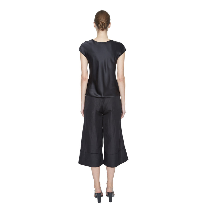 Carmen Silk Tee - New York Look fashion retail style designer brands like Uma