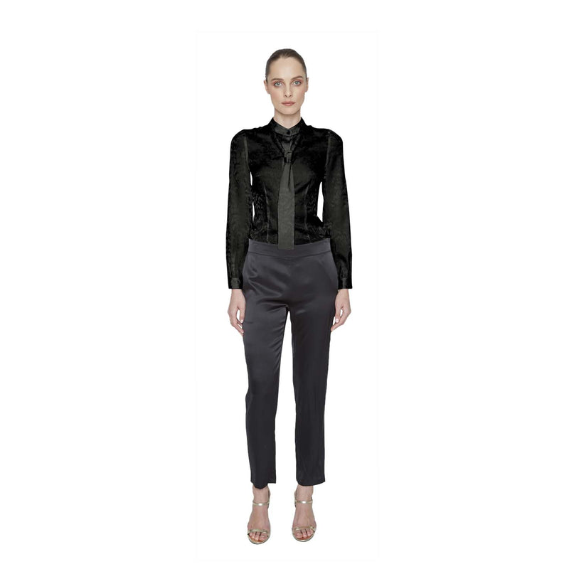 Hailey Silk Button-down - New York Look fashion retail style designer brands like Uma
