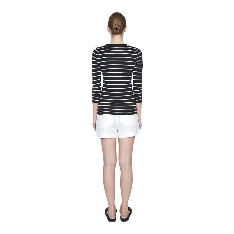 Lily Striped Silk Cashmere Sweater - New York Look fashion retail style designer brands like Uma