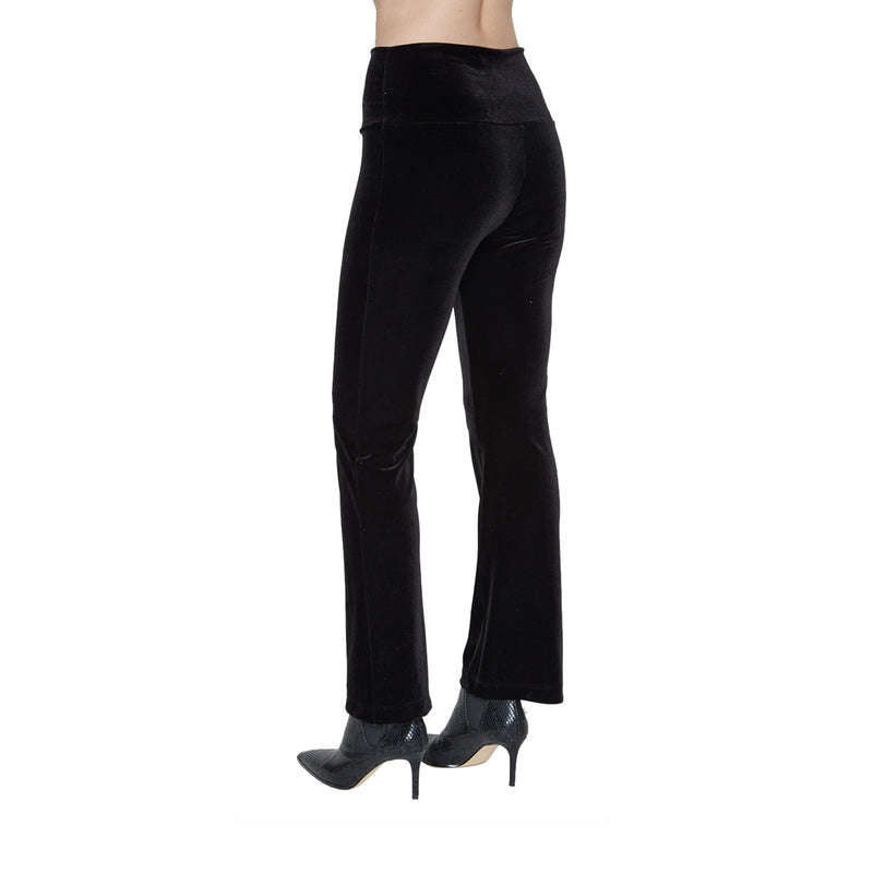 Selena High Waisted Velvet Pants - New York Look fashion retail style designer brands like Uma