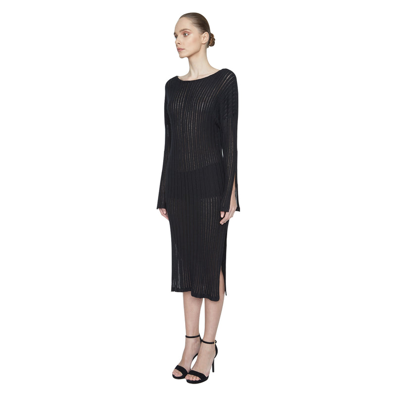 Cassie Ribbed Dress - New York Look fashion retail style designer brands like Uma