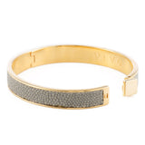 CORFU Hinged enamel bangle, inlay - New York Look fashion retail style designer brands like Uma