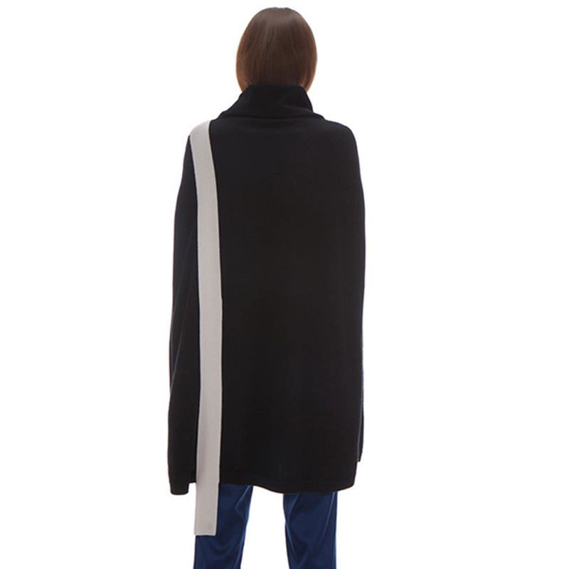 Cameron Cashmere Side Tie Poncho - New York Look fashion retail style designer brands like Uma